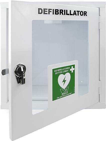 Medx5 Upgrade 2019 Universal Defibrillator Metall Wandkasten Für Innen Pulverbeschichtet Für Alle Aed S Ohne Alarm Drogerie Körperpflege