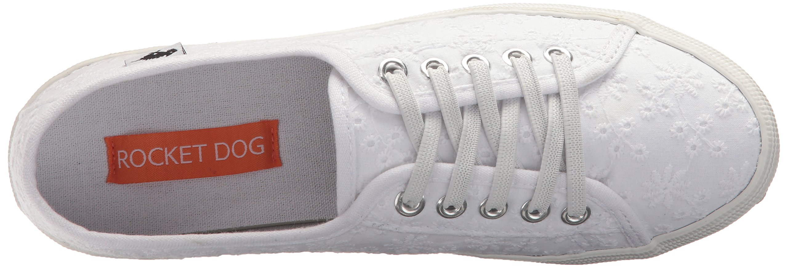 Rocket Dog Women's Chowchow Lucky Eyelet Cotton Sneaker, White, 9.5 Medium US by Rocket Dog (Image #7)