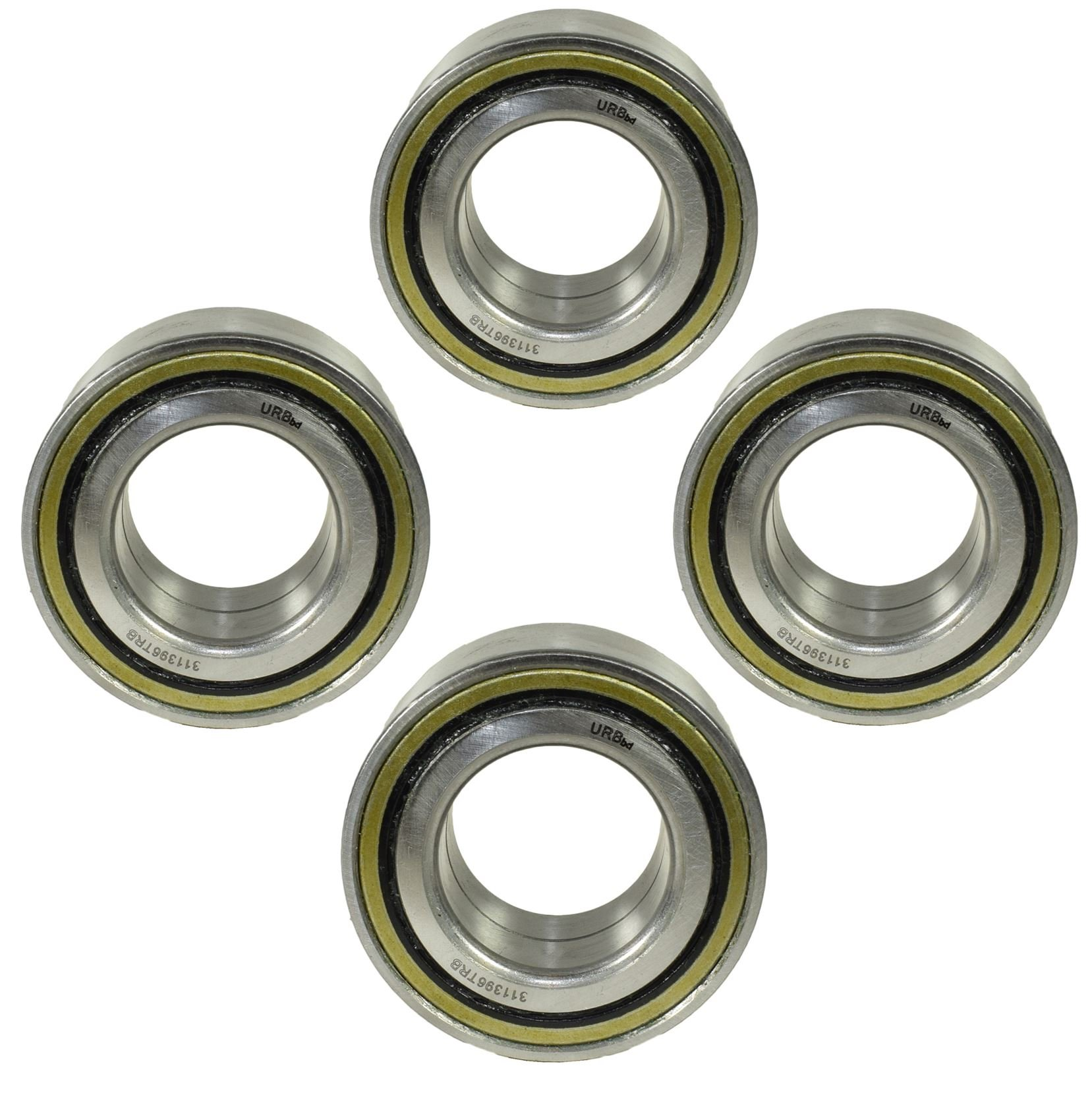AB Tools 4 HD Trailer Sealed Bearing Hubs Alko 581169 Knott 45887.12 ID39 OD72 W37mm by AB Tools