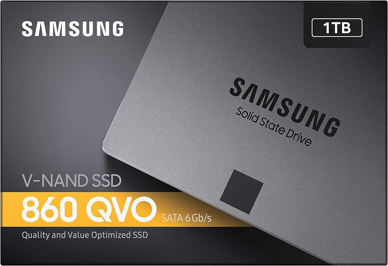 Samsung 860 QVO MZ-76Q1T0BW - Disco Duro sólido (1000 GB, 2.5 ...