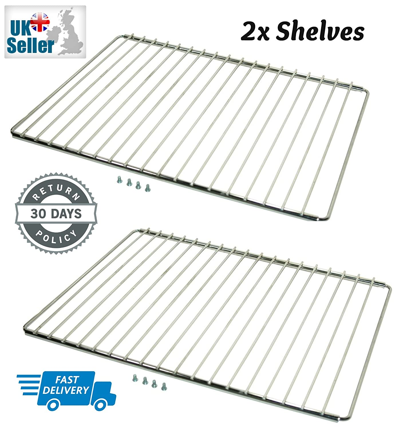 First4Spares Extendable Oven Cooker Shelf Rack (360mm-600mm), 1 Pack containing 2 Shelf Racks CS159W