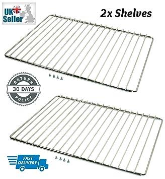 2x universal adjustable oven cooker shelf extendable rack shelves rh amazon co uk how to fix adjustable oven shelves