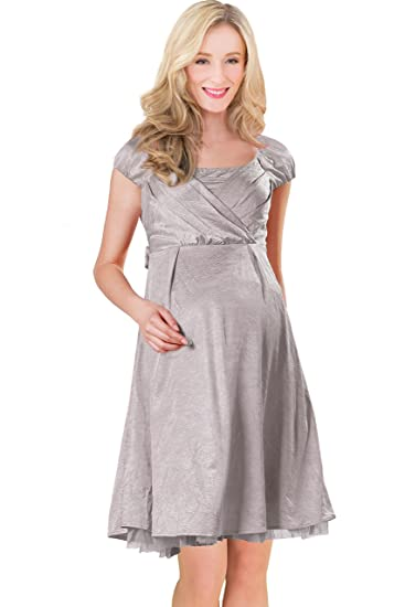 Sweet Mommy Maternity and Nursing Satin Formal