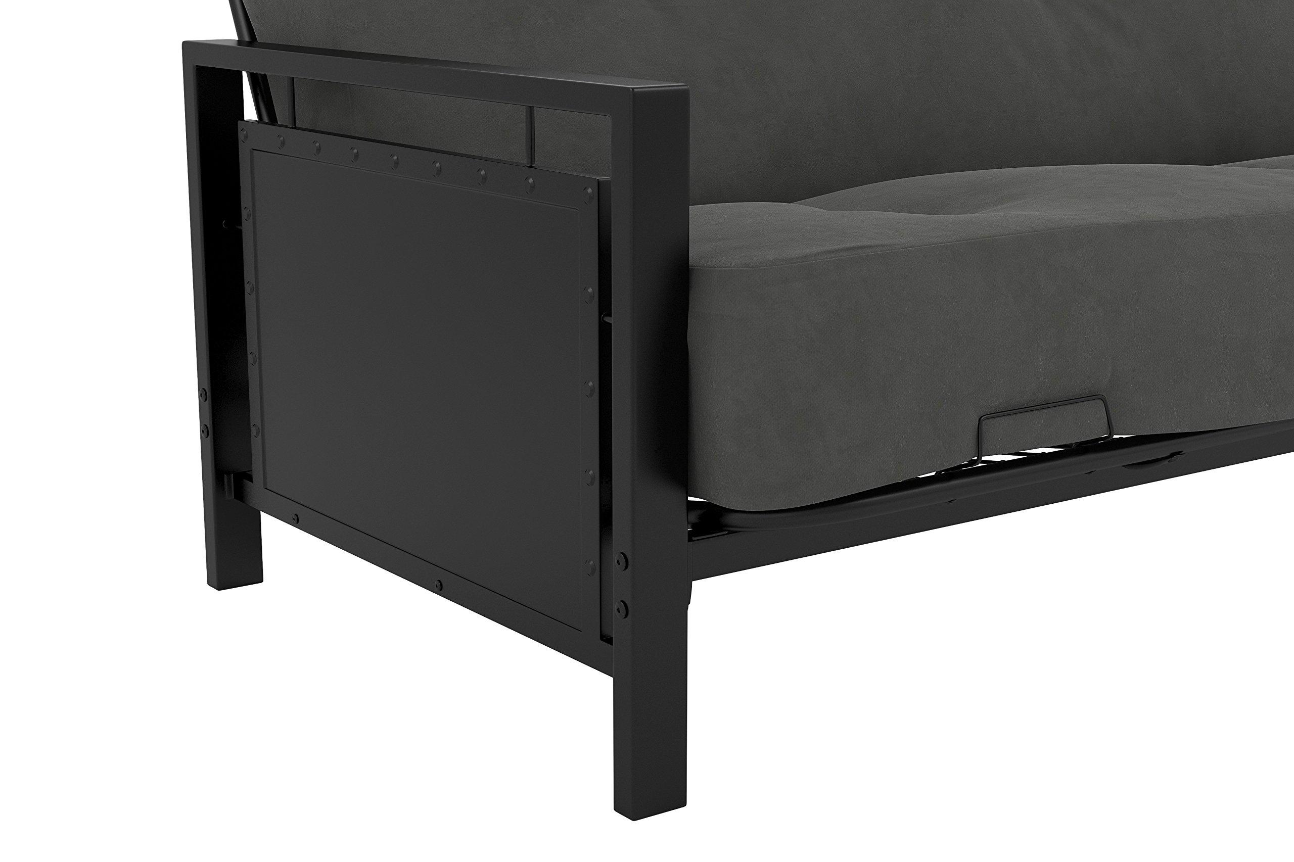 DHP Henley Metal Arm Futon Frame, Industrial Loft Design, Converts to Sleeper, Black Sturdy Metal by DHP (Image #8)
