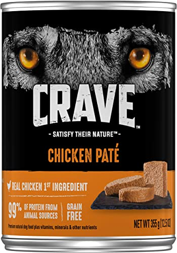 CRAVE High Protein Grain Free Pat Adult Wet Dog Food, Pack of 12 12.5 oz. cans