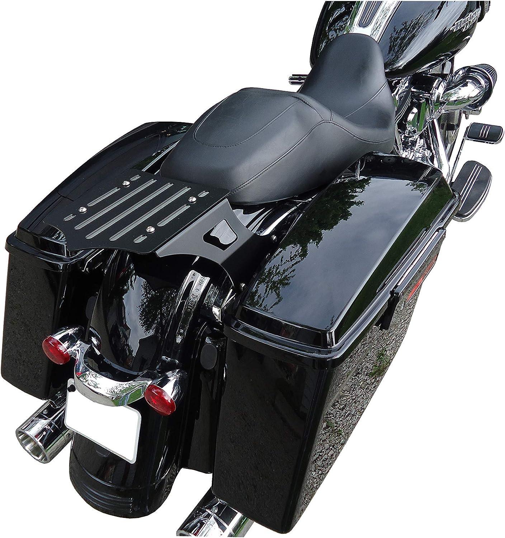 BDD Custom 101-040-502 Slot SoloLuggage Rack with Backrest