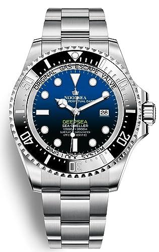 Nooba Factory - Reloj automático de lujo, diseño de corona suiza de alta gama, color océano: Amazon.es: Relojes
