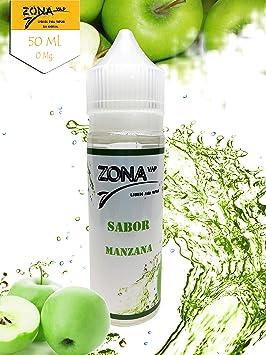 Zona Vap Manzana 50ml E líquido Liquido Vaper Para Cigarros electronicos 60VG/40PG E Liquid Cigarrillo Electronico Premium Vapear 0mg Nicotina