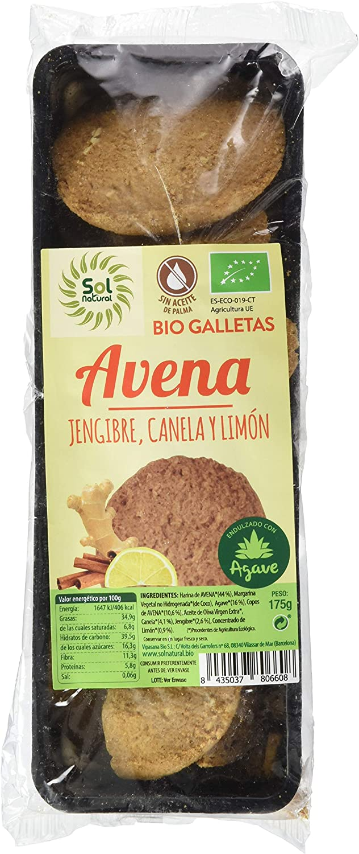 SOLNATURAL Galletas DE Avena Jengibre Canela-Limon 175 g, No ...