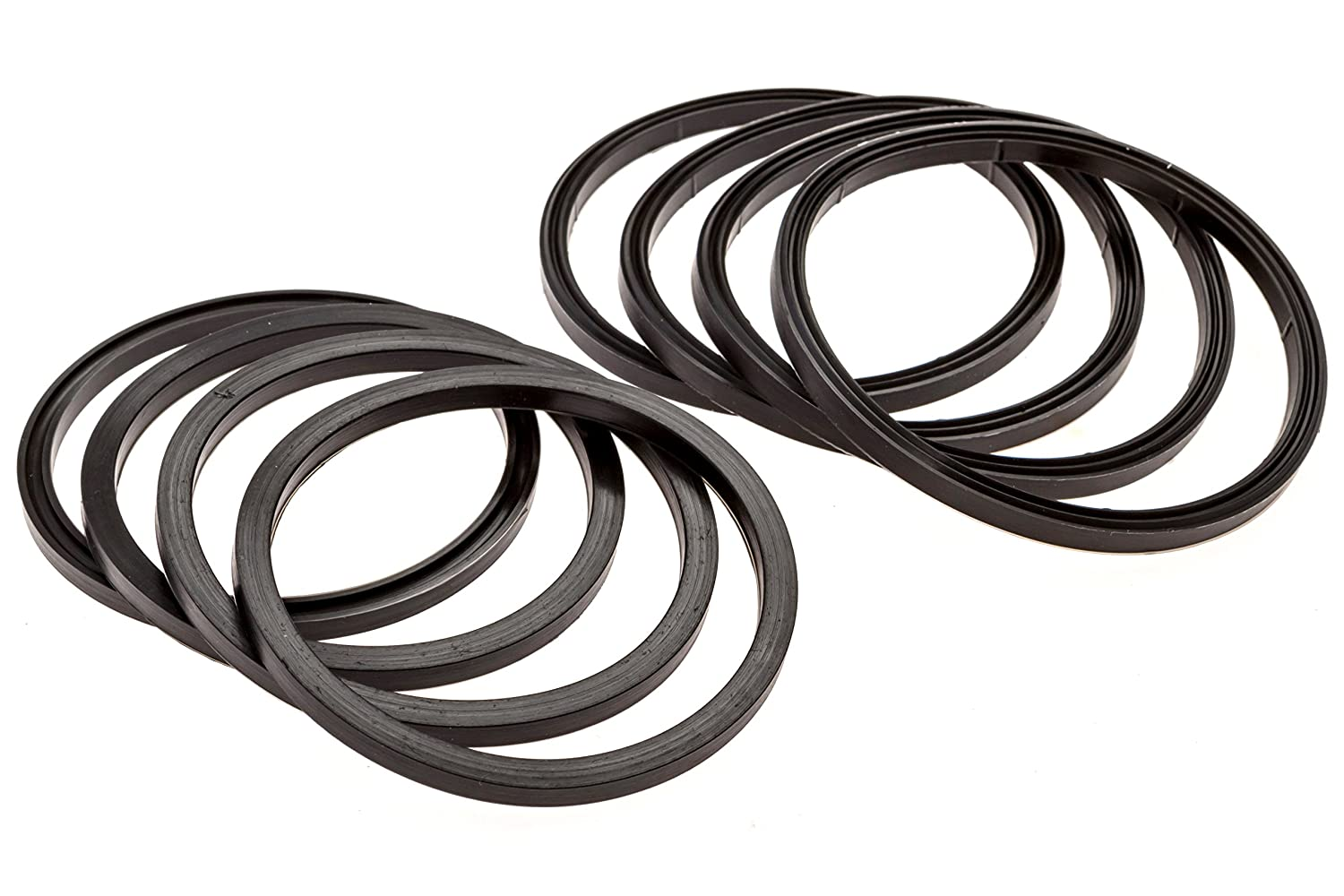 Rubber Seal Fittings Compatible with Camco RhinoFLEX//Revolution//Easy-Slip Equivalent to 39834 Mission Automotive 8-Pack of RV Sewer Hose Replacement Gaskets