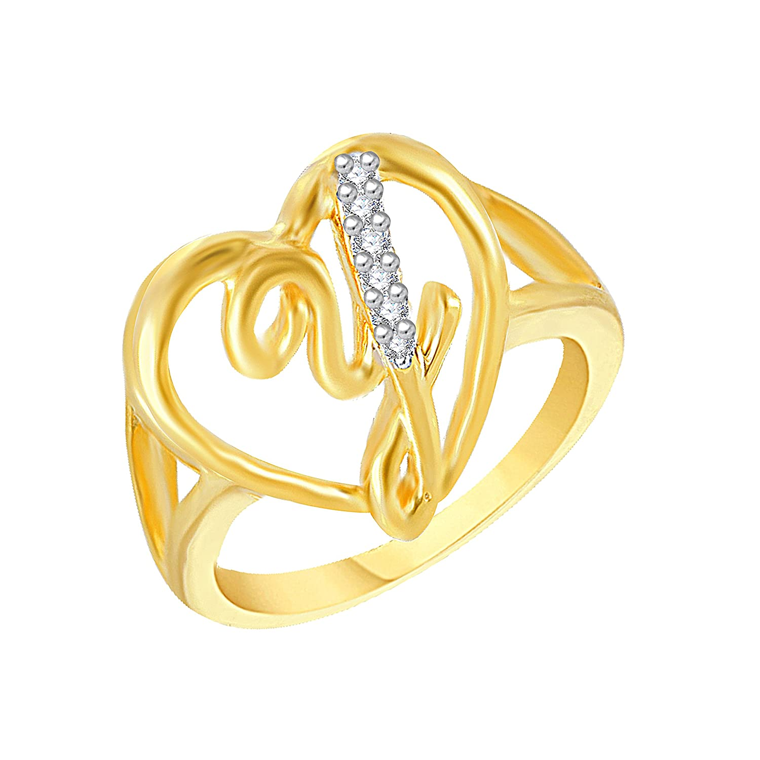 Buy Vk Jewels Alphabet Letter Y Gold And Rhodium Plated