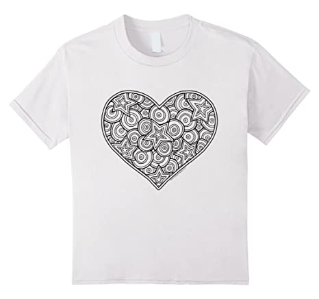 Heart T-Shirt to color in