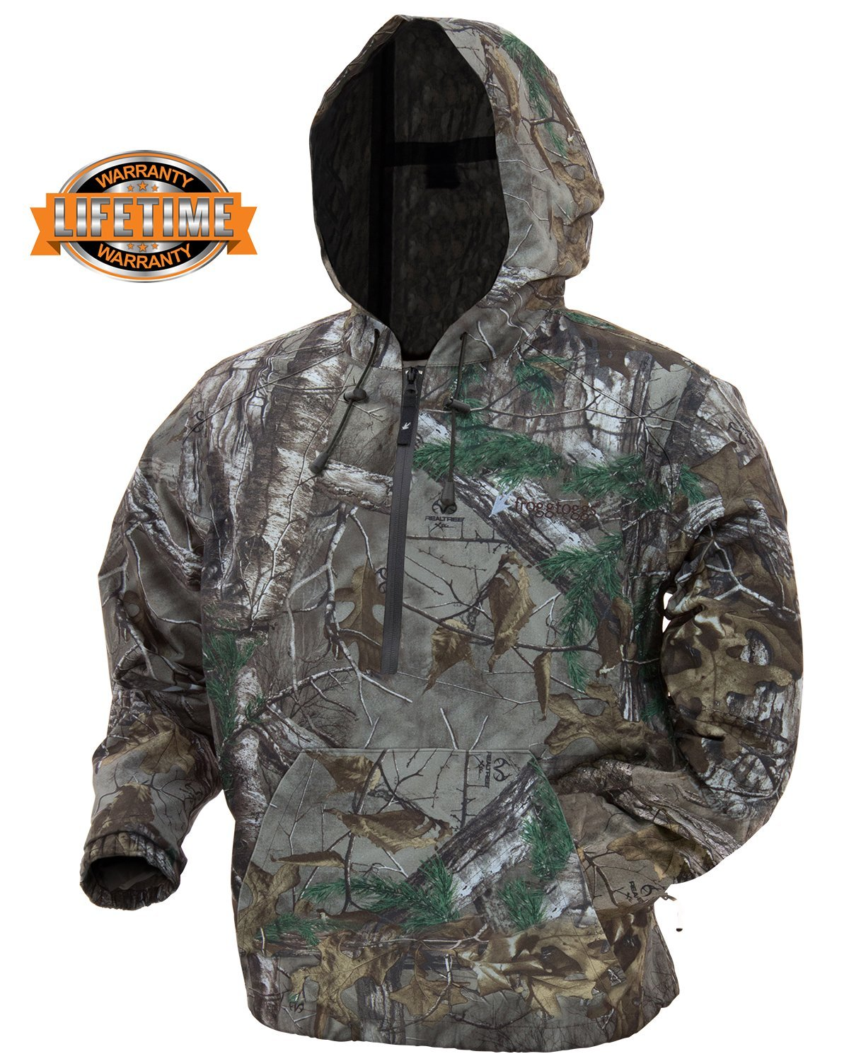 Frogg Toggs Dead Silence Brushed Camo Pullover Hoodie, Mossy Oak Bottomland, Size Medium Dead Silence Brushed Camo Pullover Hoodie, Water-Resistant, Mossy Oak Bottomland, Medium
