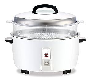 Panasonic SRGA321SH 17 Cup Commercial Automatic Rice Cooker w/Steam Basket, SR-GA321SH, White