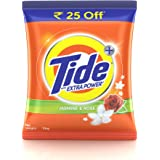 Tide Plus Extra Power Detergent Washing Powder - 2 kg (Jasmine and Rose, Rupees 25 Off)