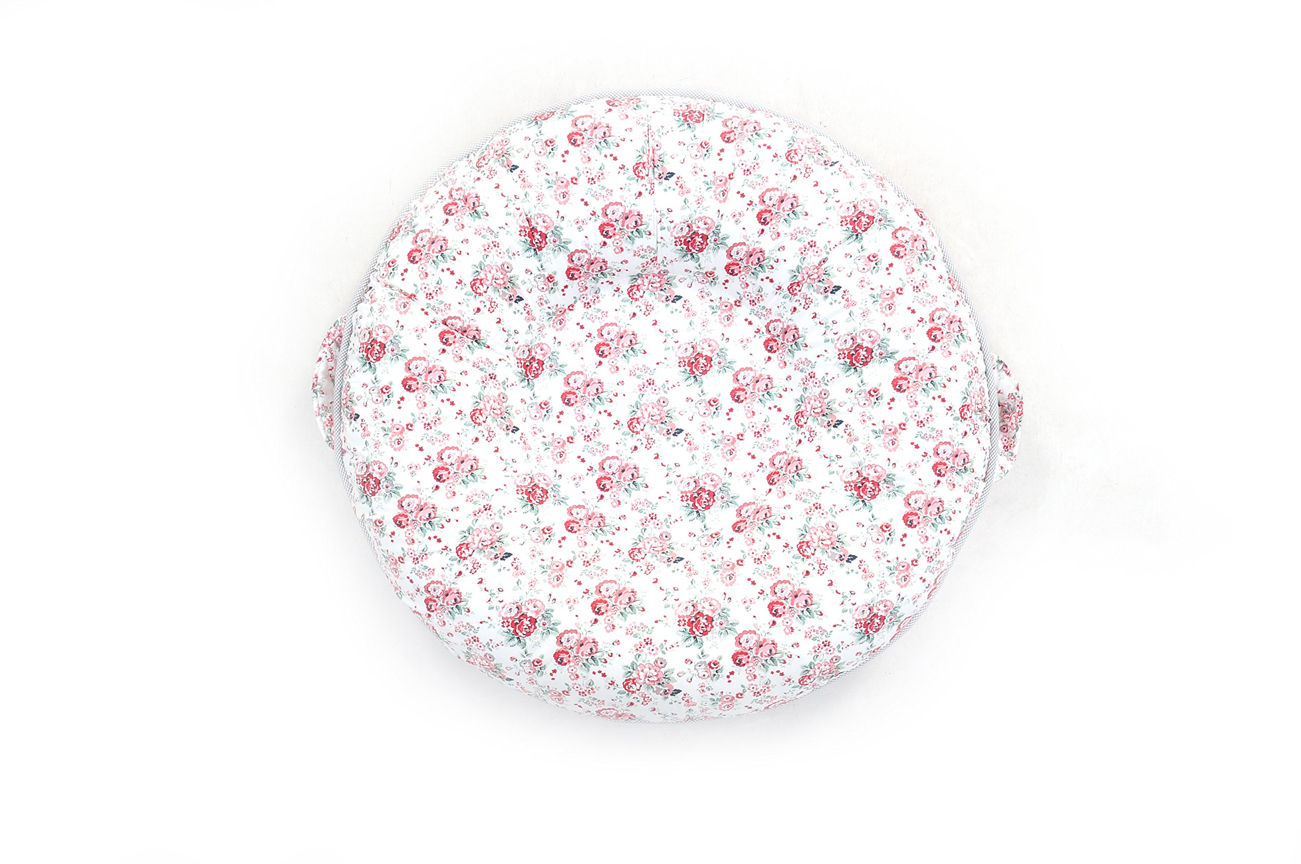 Pello Multi-use Luxe Baby-Toddler Floor Pillow/Play Mat/Lounger (Sarah/Light Pink) by pello (Image #1)