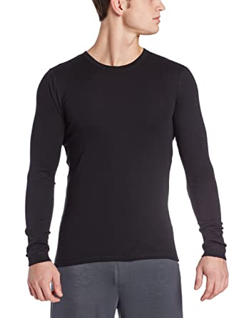 028f0089b81 Calvin Klein Men s Body Long-Sleeve Crew-Neck T-Shirt Black Small at Amazon Men s  Clothing store  Pajama Tops
