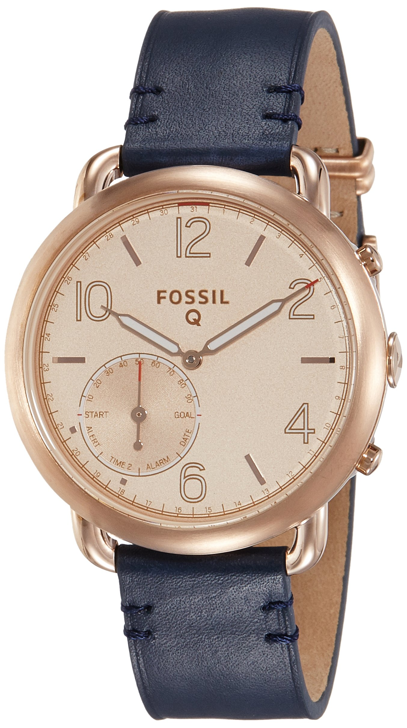 Fossil Hybrid Smartwatch - Q Tailor Dark Navy Leather by Fossil (Image #4)