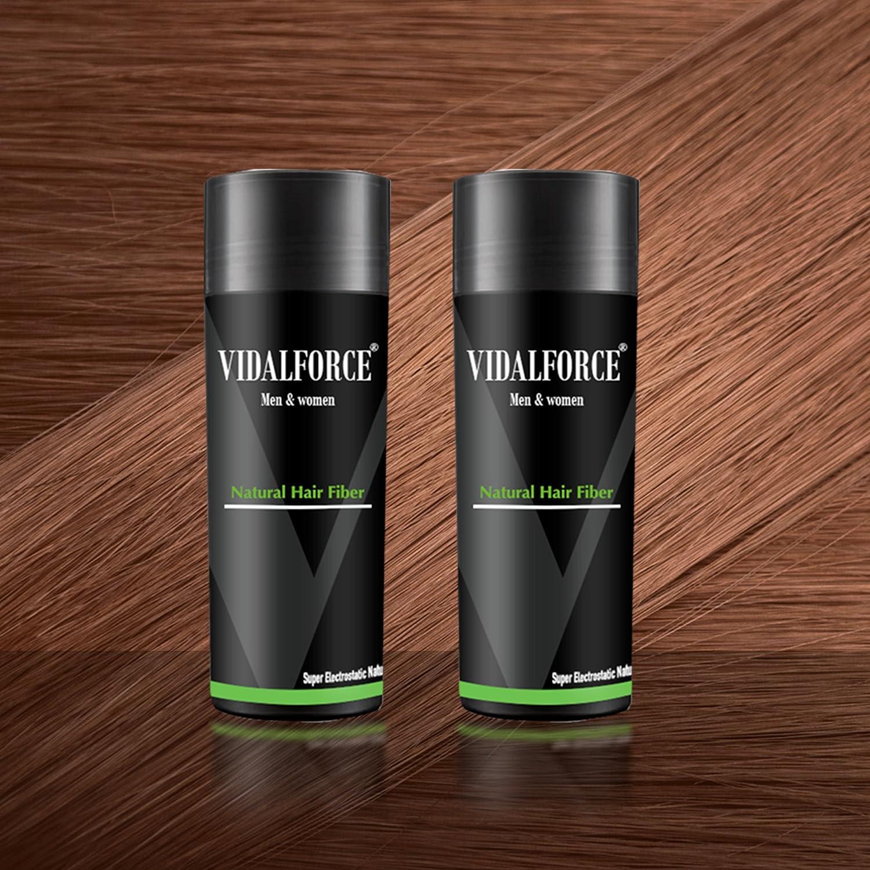 VidalForce Pack Fibras Capilares 2uds x 27,5g / Castaño Claro /: Amazon.es: Belleza