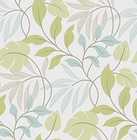 Wall Pops Nu1657 Meadow Peel And Stick Wallpaper Blue Green