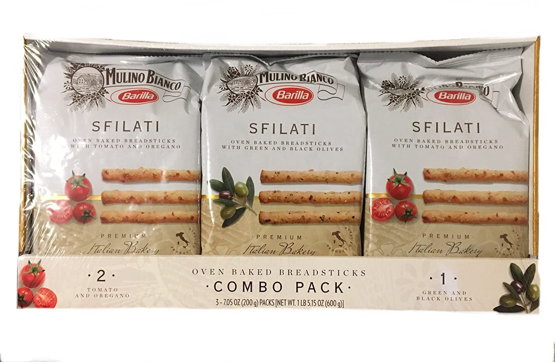 Amazon Mulino Bianco Barilla Sfilati 3 Pack Breadsticks
