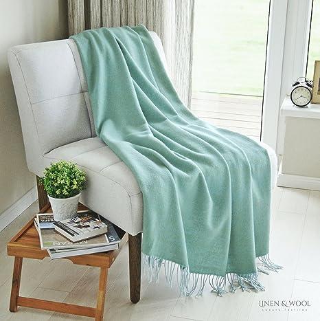 Linen & Cotton Manta Sofa/Mantas de Cama de Lujo STONEWOLD ...