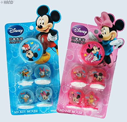 DM0634 Disney Minnie Mickey Mouse Rubber Stamp Set