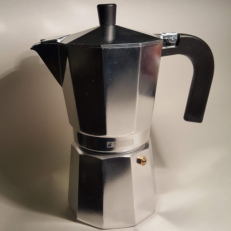 Monix M620006 Cafetera, Aluminio, Plata, 6 Tazas
