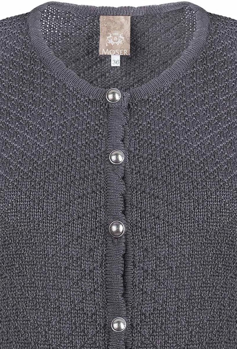 Material Baumwolle MOSER/® Trachten Strickjacke grau Marlene 003188 von Moser/®