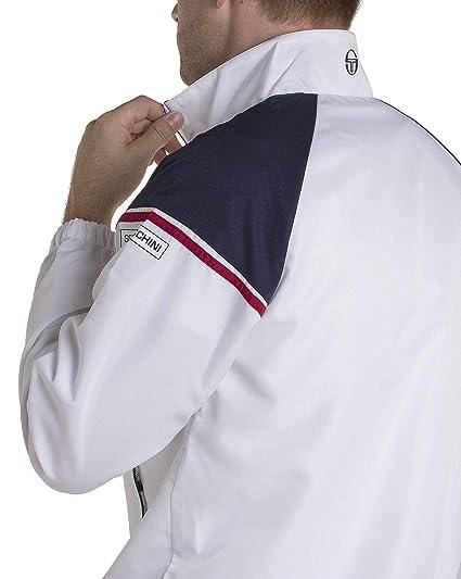 2abab19ef62 Sergio Tacchini - Ensemble survêtements IREO Blanc et Bleu Marine Sport  Classe  Amazon.fr  Vêtements et accessoires