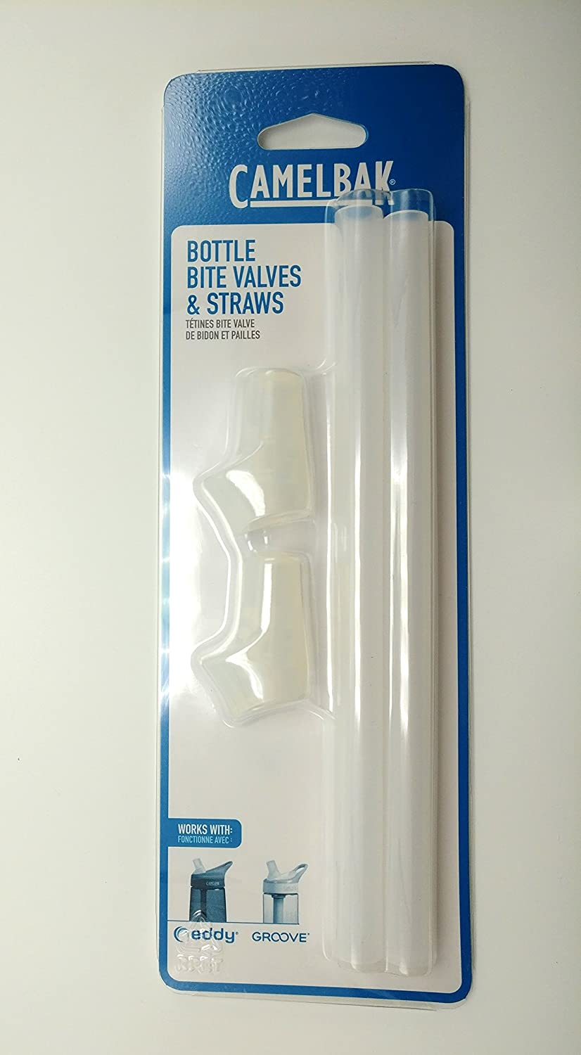 c7b77c2d2a Amazon.com : CamelBak Eddy and Groove Bottle Accessory (2 Bite Valves & 2  Straws) New SEALED : Sports & Outdoors