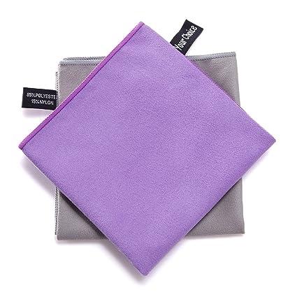 Su Elección 2 unidades microfibra Viajes Deporte Camping Senderismo Natación Entrenamiento Toallas toallas de ultra secado