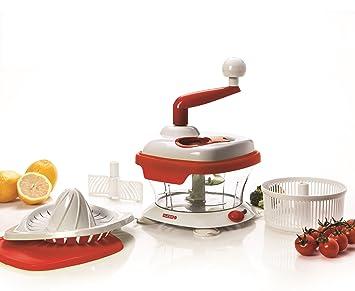 Red Master cortador de exprimidor para naranjas limones pomelo y más. Para verduras de primer plano de cebolla hierbas centrifugador de infligir cortadora ...