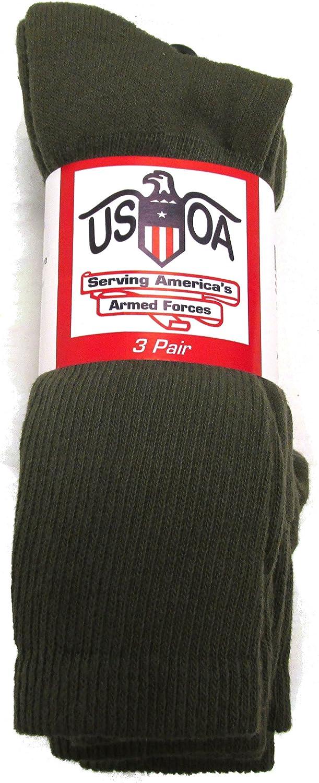 US Army Military Issue Anti-Fungal OTC Boot Socks 3 Pair OD GREEN Size Medium