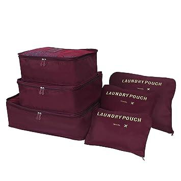 Amazon.com: molain Organizador embalaje de viaje con cubos ...