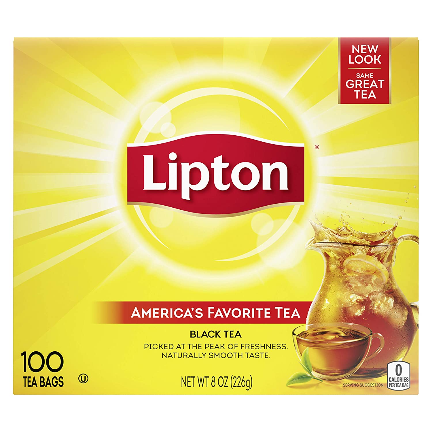 Lipton Tea Bags For A Naturally Smooth Taste Black Tea Can Help Support a Healthy Heart 8 oz 100 Count
