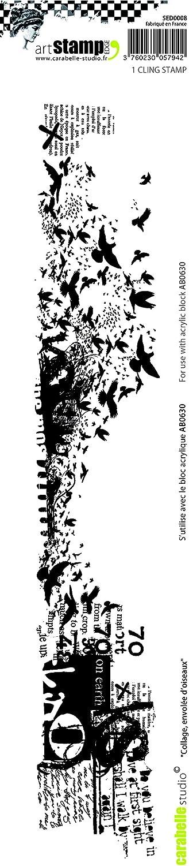 Carabelle Studio Cling Edge Stamp White//Transparent 31 x 6 x 1.5 cm Grunge Meter