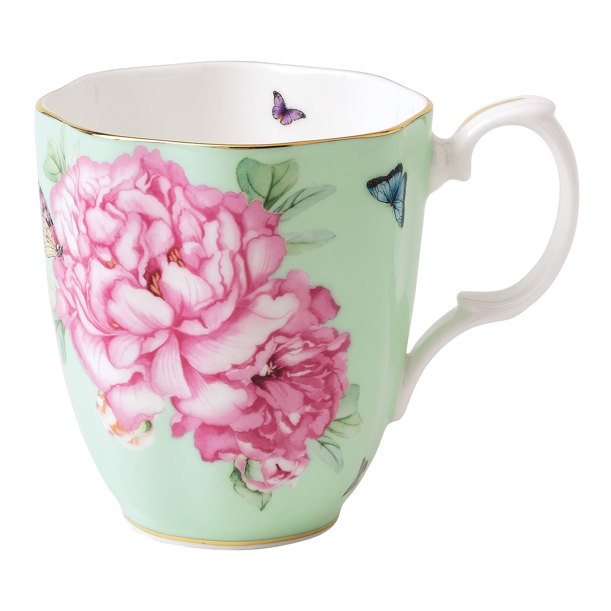 Royal Albert Friendship Vintage Mug Designed by Miranda Kerr, 13.5-Ounce, Green