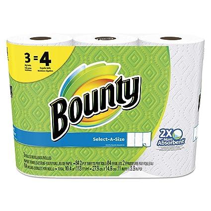 Bounty select-a-size perforado toallas de rollo de, 11 x 5,