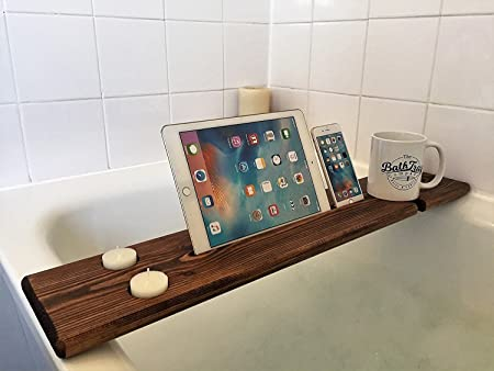 Wooden Bath Caddy Bath Shelf Bath Board Wine Tablet Mobile Phone ...