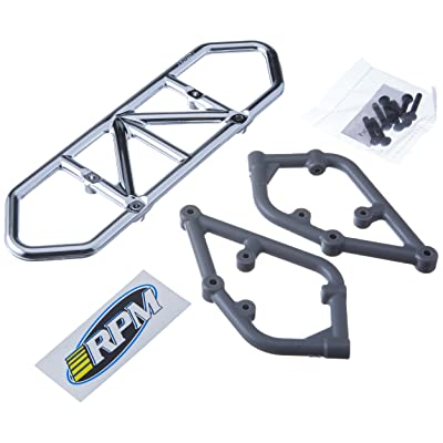 RPM Slash 2WD Rear Bumper, Chrome: Toys & Games