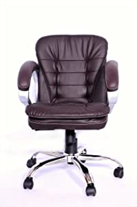 Adiko ADXNBR092 Low Back Office Chair (Brown)