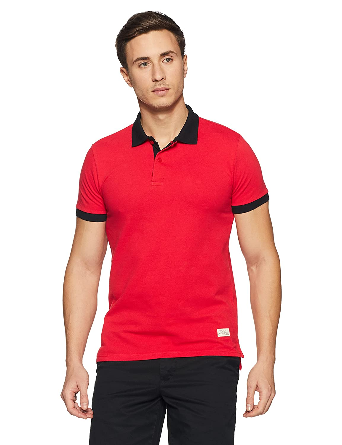 United Colors of Benetton Men's Solid Regular Fit Cotton Polo