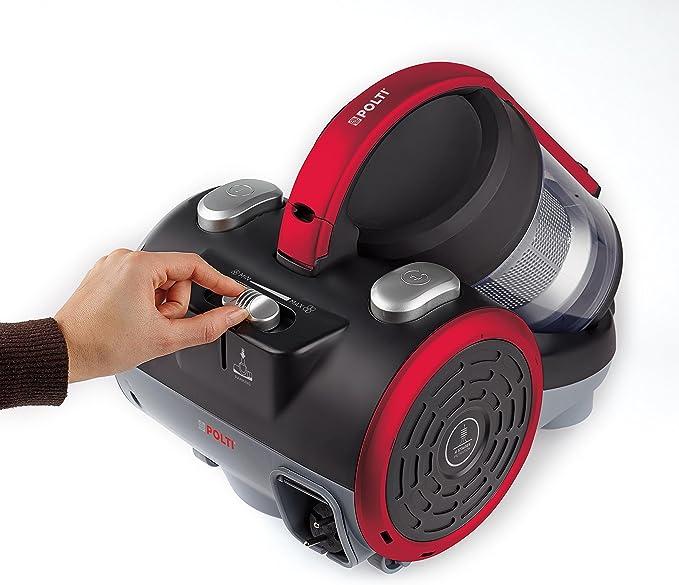 Polti Forzaspira C110_Plus Aspirador cicónico sin bolsa, 2 litros capacidad depósito de recogida, 80 Decibelios, Negro/Rojo: Amazon.es: Hogar