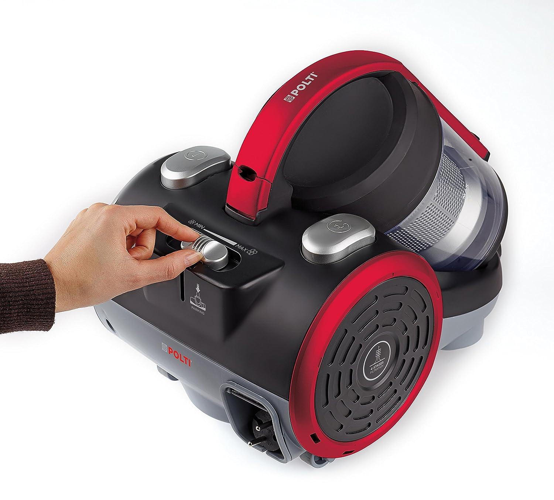 80 Decibeles Polti Forzaspira C110/_Plus Aspirador cic/ónico sin Bolsa Negro//Rojo 2 litros Capacidad dep/ósito de Recogida