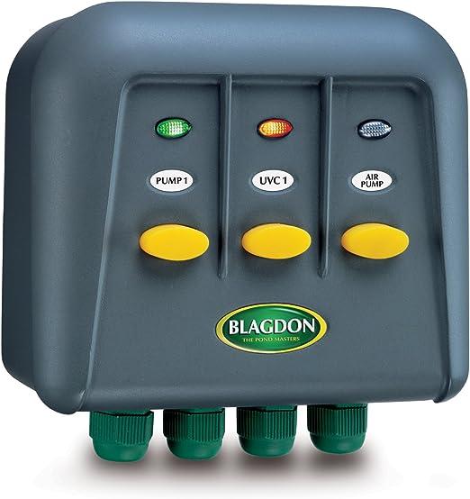 Caja de interruptores para exteriores Blagdon PowerSafe 3: Amazon.es: Jardín