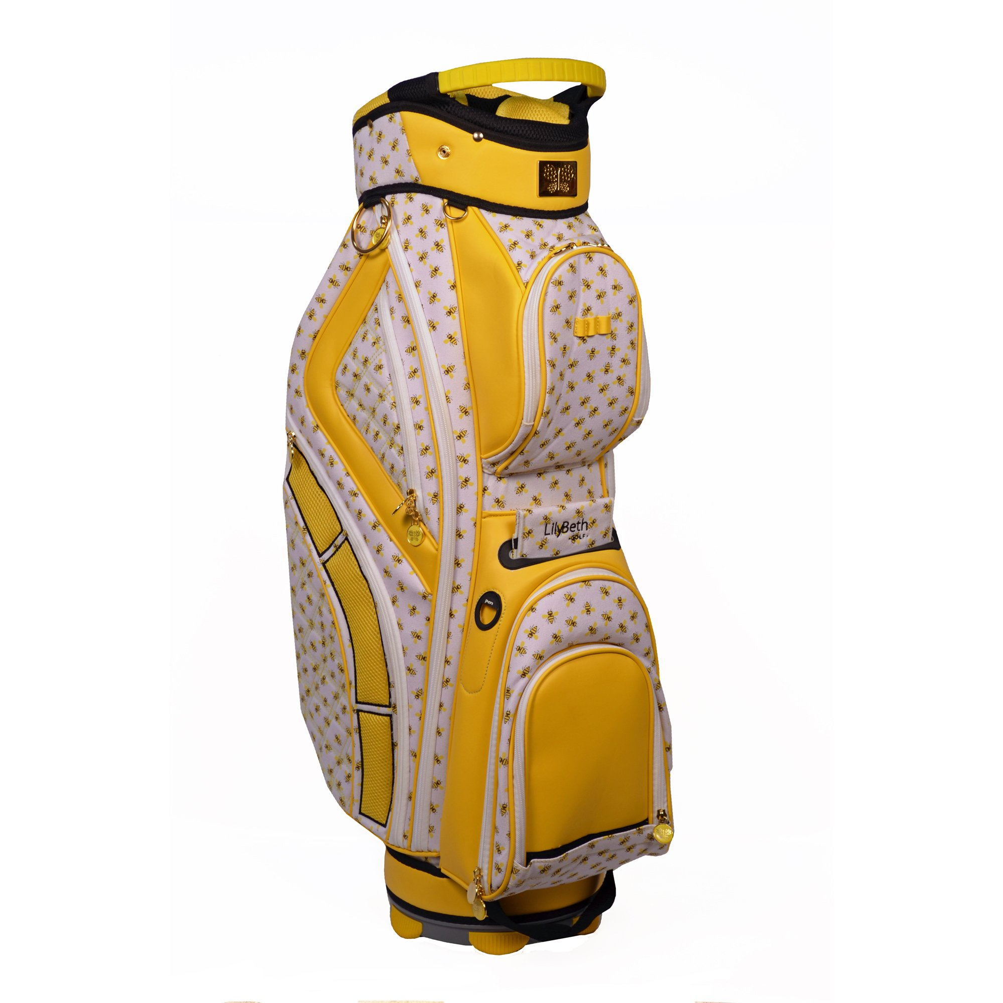LilyBeth GOLF Cart Bag, Yellow Bumble Bee