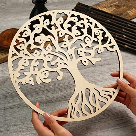 Simurg Round Tree Of Life Wooden Wall Art Wall Hanging Decor Art Home Decoration Everything Else