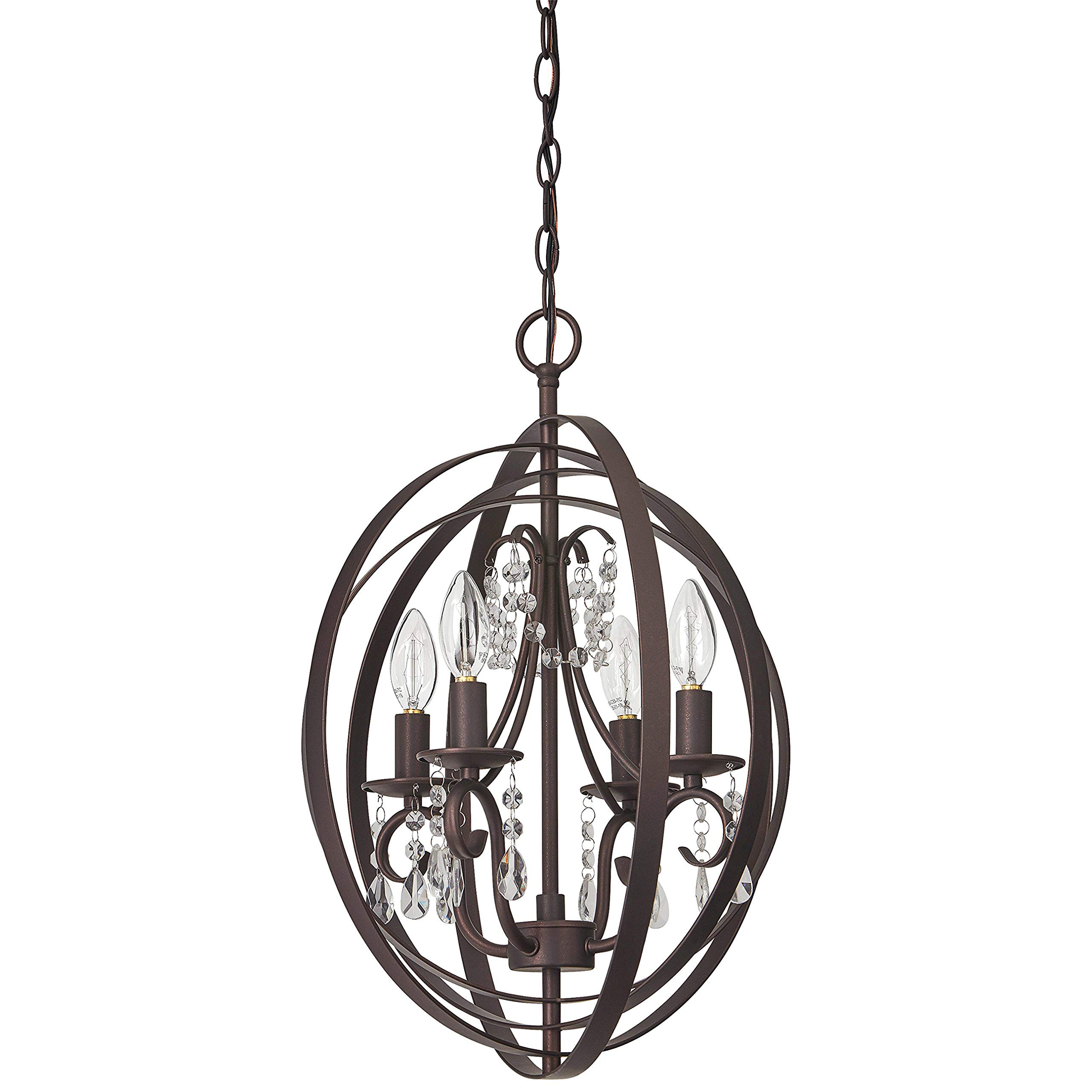 Stone & Beam French Country Orb Chandelier, 21''H, With Bulb, Oil Rubbed Bronze