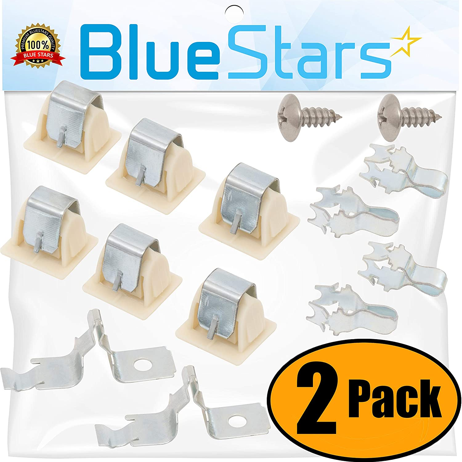 Ultra Durable 279570 Dryer Door Latch Strike Kit by Blue Stars - Exact Fit for Kenmore Whirlpool KitchenAid dryers - Replaces AP3094183, PS334230, 279570 - PACK OF 2 BlueStars